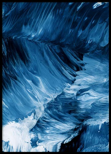 Abstract Waves Poster in de groep Posters / Kunst bij Desenio AB (10272)