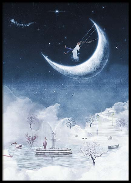 Foggy Winter Night Poster in de groep Posters / Kinderposters bij Desenio AB (10277)