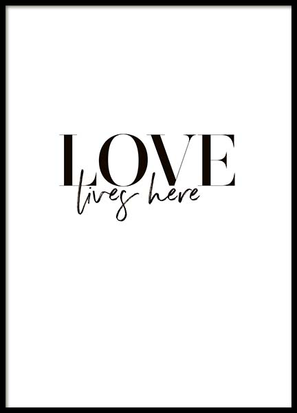 Love Lives Here Poster in der Gruppe Poster / Typografie Poster bei Desenio AB (10366)