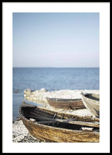 Wooden Boats Poster in der Gruppe Poster / Naturmotive bei Desenio AB (10476)