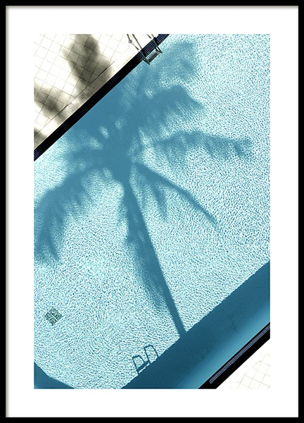 Pool and Palm Tree Poster in der Gruppe Poster / Fotografien bei Desenio AB (10668)