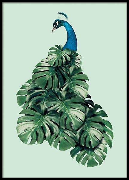 Monstera Bird Poster in der Gruppe Poster / Kinder bei Desenio AB (11019)
