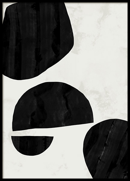 Abstract Shapes No1 Poster in de groep Posters / Kunst bij Desenio AB (11032)