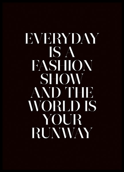 The World is Your Runway Poster in der Gruppe Poster / Typografie Poster bei Desenio AB (11139)