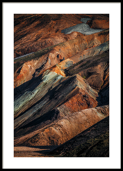 Abstract Mountains Poster in de groep Posters / Natuurmotieven bij Desenio AB (11153)