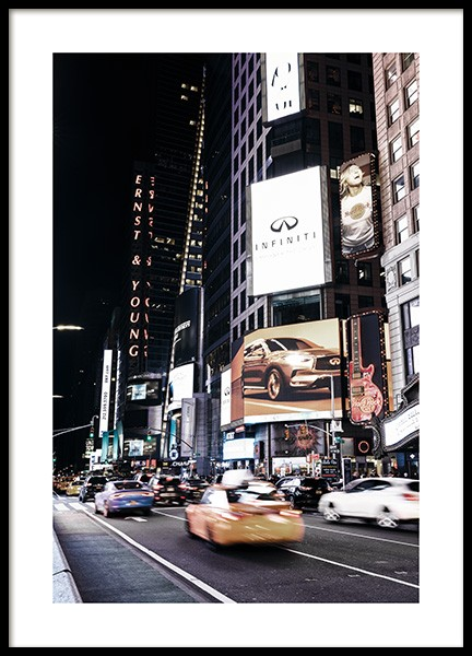 Times Square by Night Poster in der Gruppe Poster / Fotografien bei Desenio AB (11322)