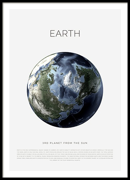 Planet Earth Poster in der Gruppe Poster / Kinder bei Desenio AB (11440)