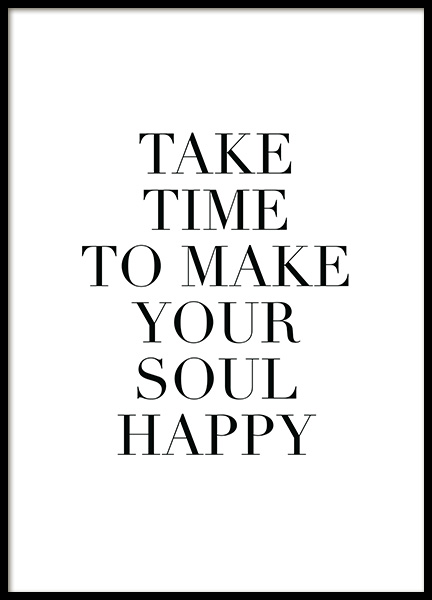 Make Your Soul Happy Poster in der Gruppe Poster / Typografie Poster bei Desenio AB (11847)