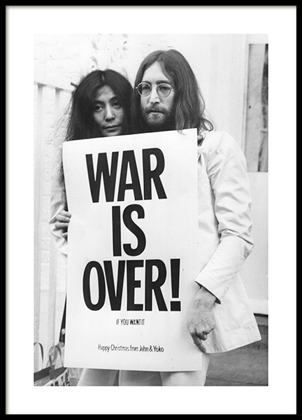War is Over Poster in der Gruppe Poster / Schwarz-Weiß bei Desenio AB (11970)