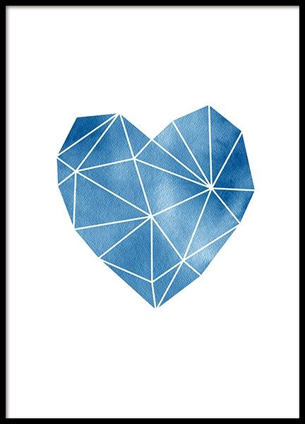 Geometric Watercolor Heart Poster in der Gruppe Poster / Grafische Kunst bei Desenio AB (11993)