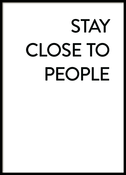Stay Close No1 Affiche dans le groupe Affiches / Affiche citation chez Desenio AB (12006)