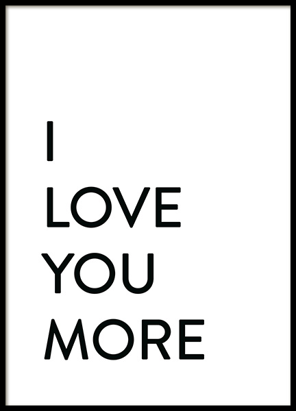 Each Day I Love You No2 Affiche dans le groupe Affiches / Affiche citation chez Desenio AB (12009)
