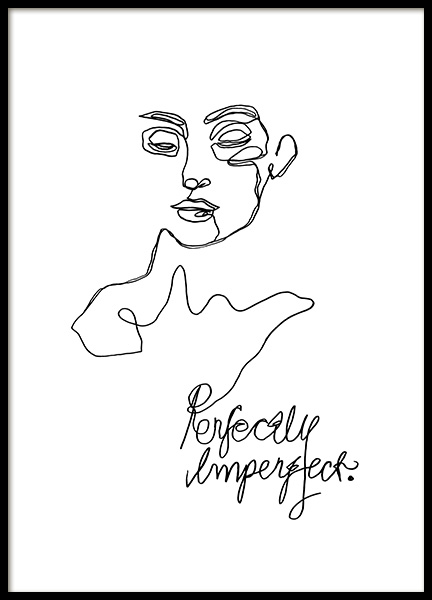 Imperfect Line Art Poster in de groep Posters / Illustraties bij Desenio AB (12359)