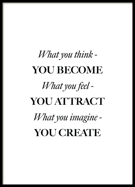What You Think Poster in de groep Posters / Posters met tekst bij Desenio AB (12394)
