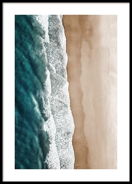Rushing Sea Waves Poster in der Gruppe Poster / Naturmotive bei Desenio AB (12459)