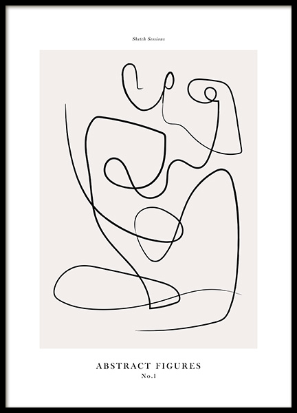 Abstract Figures No1 Poster in der Gruppe Poster / Kunstdrucke bei Desenio AB (12694)