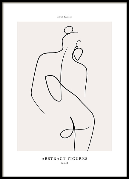 Abstract Figures No3 Affiche dans le groupe Affiches / Art chez Desenio AB (12696)