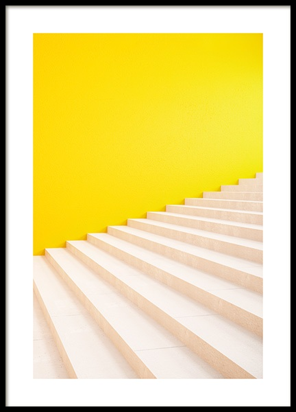 Yellow Stairs Poster in der Gruppe Poster / Fotografien bei Desenio AB (13051)