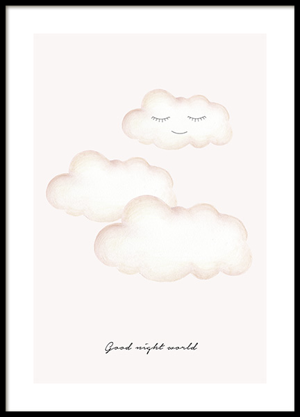 Good Night World Poster in de groep Posters / Kinderposters bij Desenio AB (13074)