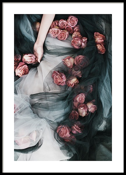 Roses and Tulle Affiche dans le groupe Affiches / Photographie chez Desenio AB (13218)