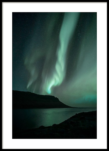 Iceland Northern Lights Poster in der Gruppe Poster / Naturmotive bei Desenio AB (13232)