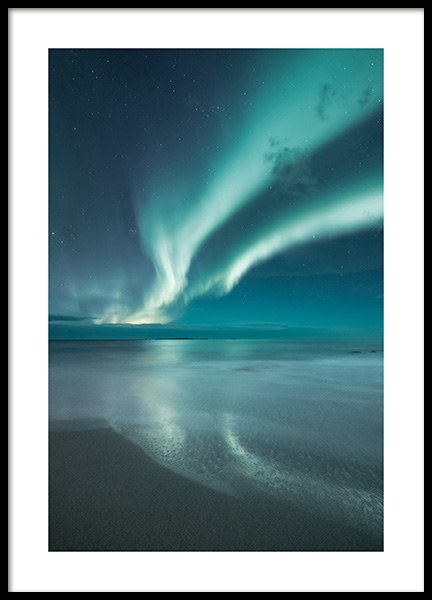 Northern Lights Poster in der Gruppe Poster / Naturmotive bei Desenio AB (13233)