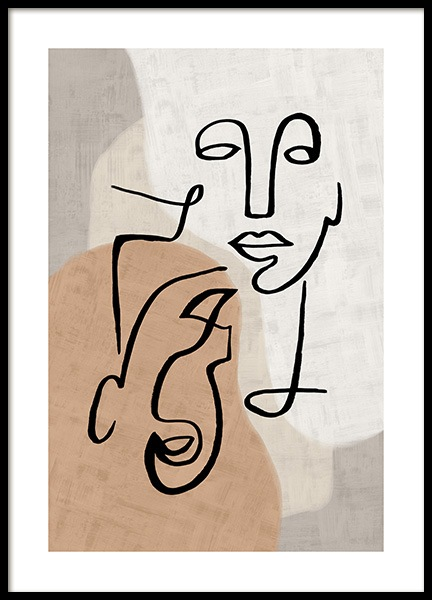 Abstract Line Art No3 Affiche dans le groupe Affiches / Art chez Desenio AB (13280)