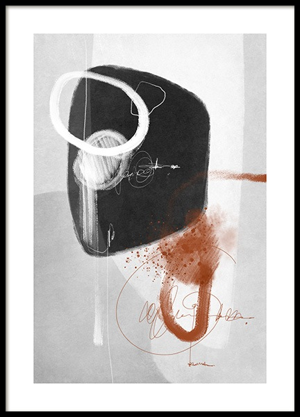 Amber Infused Abstract No1 Affiche dans le groupe Affiches / Art / Art abstrait chez Desenio AB (13481)