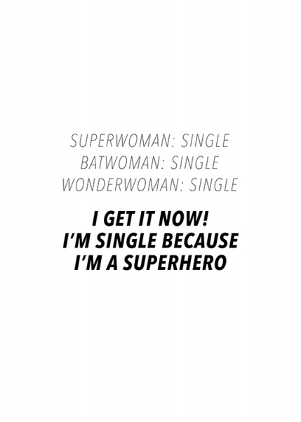 I'm a Superhero Poster in der Gruppe Poster / Typografie Poster / Humor bei Desenio AB (13598)