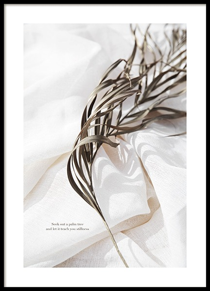 Delicate Palm Leaves No2 Poster in der Gruppe  bei Desenio AB (13650)