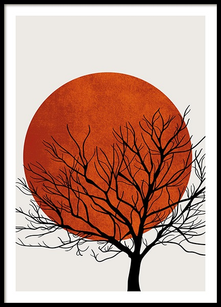 Winter Sunset Poster in der Gruppe Poster / Naturmotive bei Desenio AB (13752)