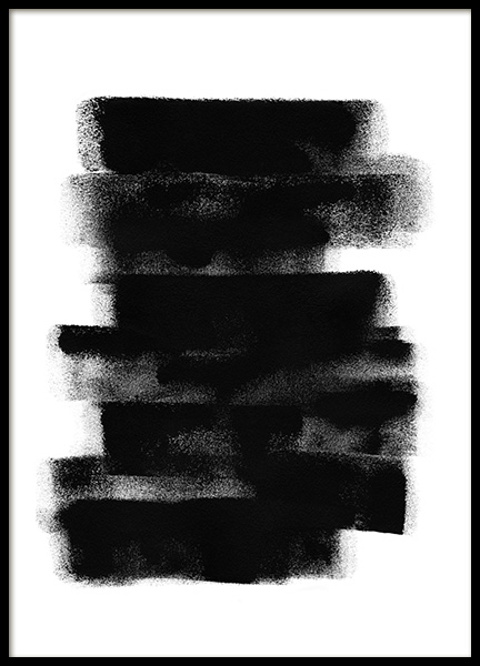 Paint it Black No2 Poster in der Gruppe Poster / Kunstdrucke / Abstrakte Kunst bei Desenio AB (13816)