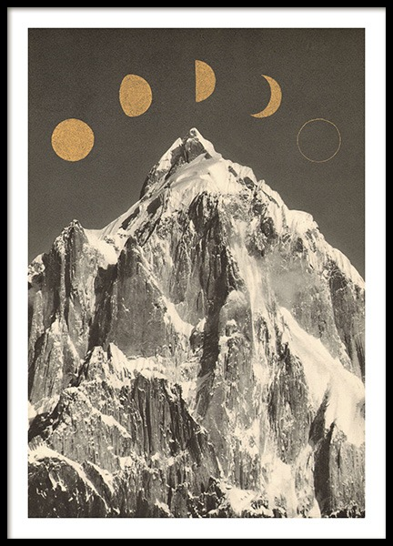 Moon Phases Poster in de groep Posters / Vintage bij Desenio AB (13921)