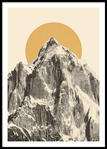 Mountainscape No2 Poster in de groep Posters / Vintage bij Desenio AB (13923)