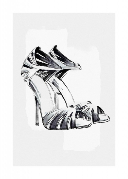 Black and White Pumps Poster in der Gruppe Poster / Fashion bei Desenio AB (13935)