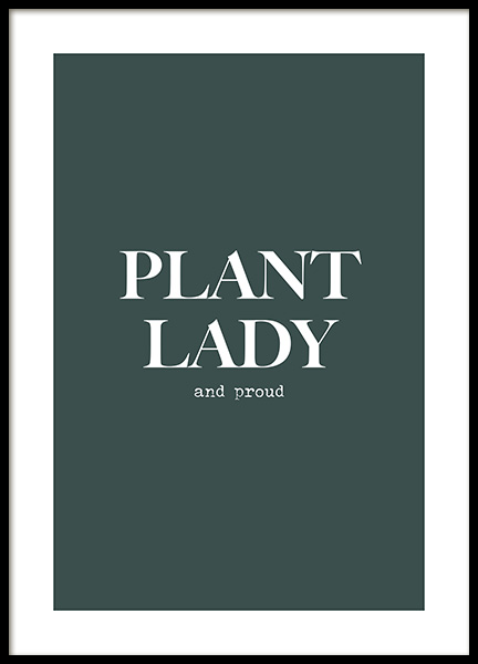 Proud Plant Lady Poster in der Gruppe Poster / Typografie Poster bei Desenio AB (13974)