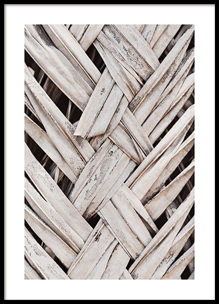 Weaving Palm Leaves Poster in der Gruppe Poster / Naturmotive bei Desenio AB (13998)