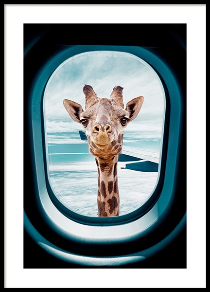 Peek-A-Boo Giraffe Affiche dans le groupe Affiches / Insectes et animaux / Animaux sauvages / Girafes chez Desenio AB (14161)