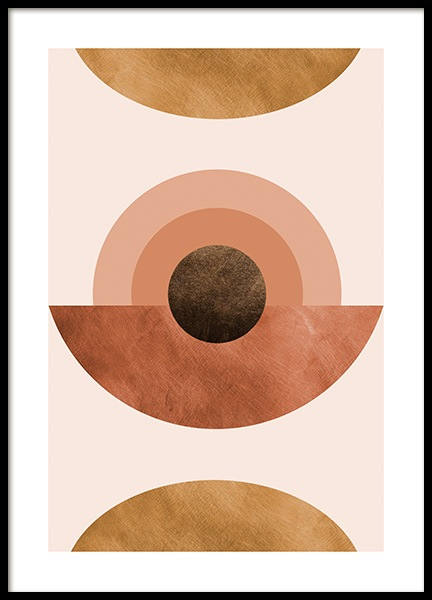 Abstract Terracotta Poster in der Gruppe Poster / Grafische Kunst bei Desenio AB (14327)
