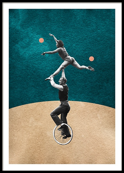 Vintage Unicycle Poster in der Gruppe Poster / Vintage bei Desenio AB (14358)