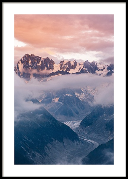 Cloudy Sunset Poster in der Gruppe Poster / Naturmotive / Berge bei Desenio AB (14439)