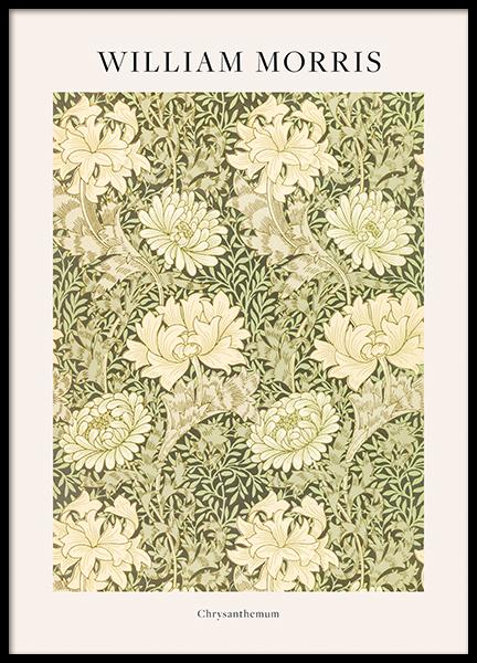 William Morris - Chrysanthemum Poster
