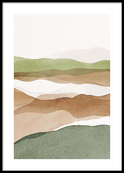 Aquarelle Landscape No2 Poster
