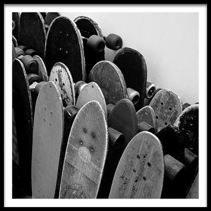 Rows Of Skateboards Poster in der Gruppe Poster / Kinder bei Desenio AB (2067)