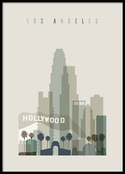 Los Angeles Skyline Poster in der Gruppe Poster / Handpicked / Art Prints Vicky bei Desenio AB (2354)