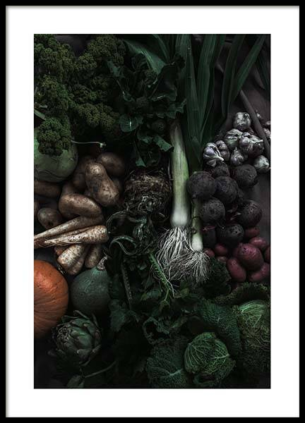 Mixed Vegetables Poster in der Gruppe Poster / Küchenposter bei Desenio AB (3491)