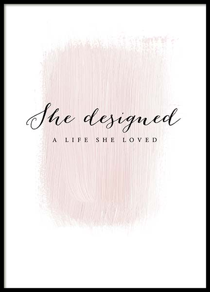 A Life She Loved Poster in de groep Posters / Posters met tekst bij Desenio AB (3942)