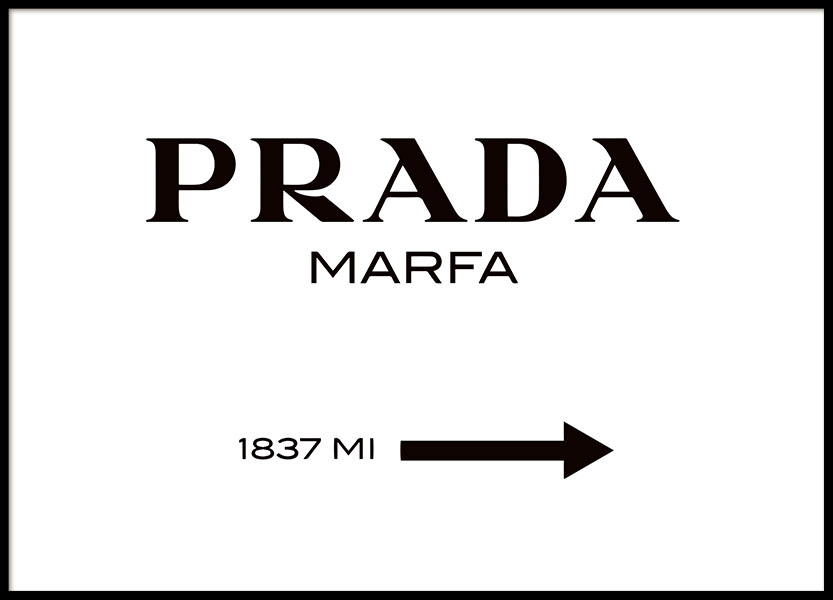 Gossip girl Prada Marfa poster online. Koop prints met mode en fashion.