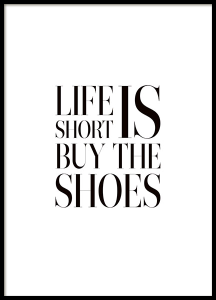 Leuke poster met quote over schoenen, fashion quotes