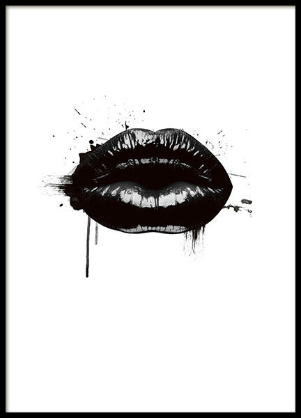 Fashion Lips, Posters in de groep Posters / Grafische posters bij Desenio AB (8490)